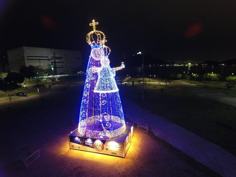 #tbt da inauguração da Imagem Iluminada de Nossa Senhora