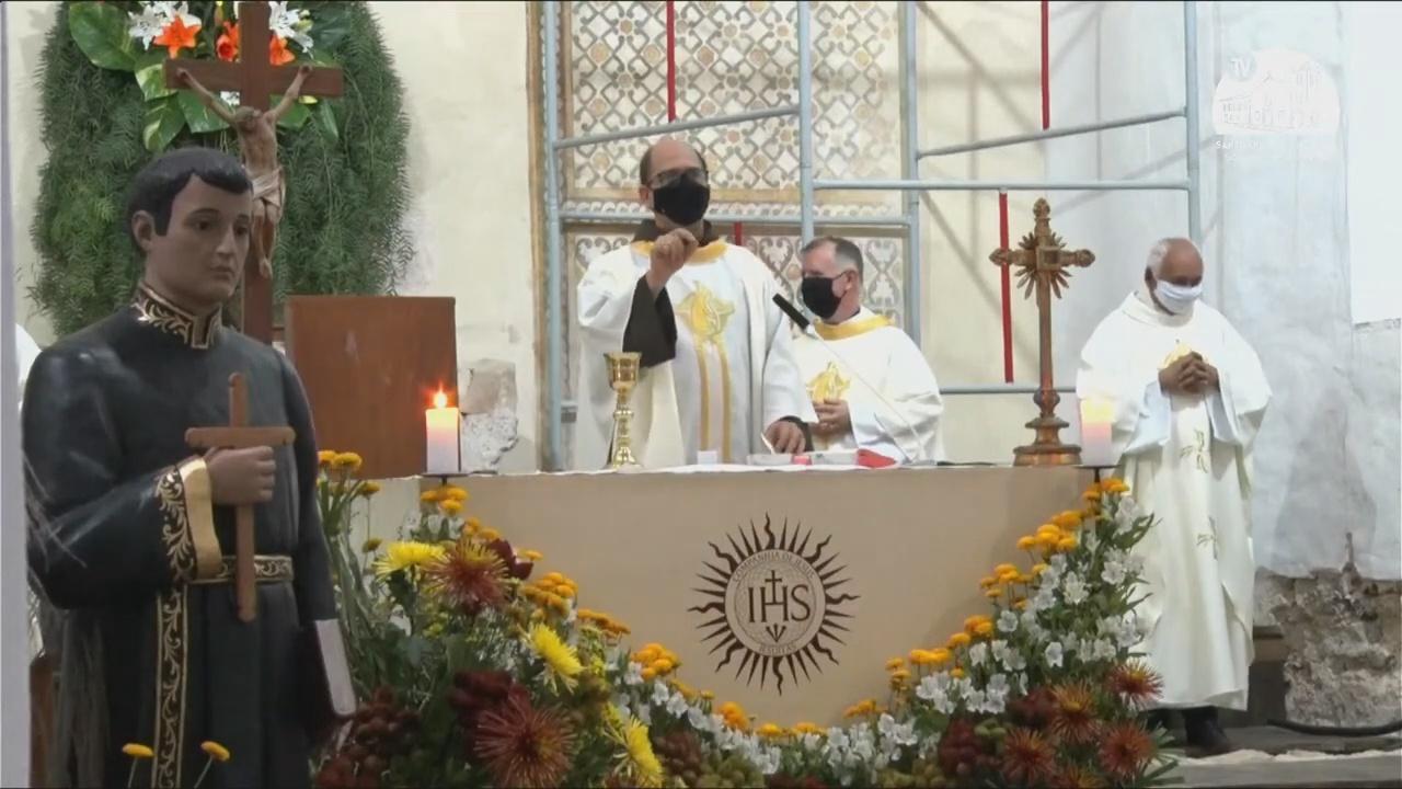 """Frei Paulo na Festa Nacional: """"Chamados a revigorar nossa fé pelas virtudes de São José de Anchieta"""""""